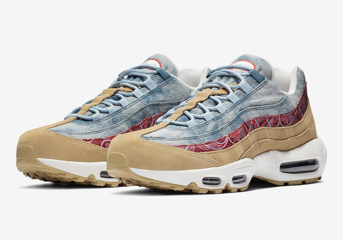 "size 40 2211b 02c37 Nike Air Max 95 ""Wild West"" Features Denim, Suede, And Paisley"