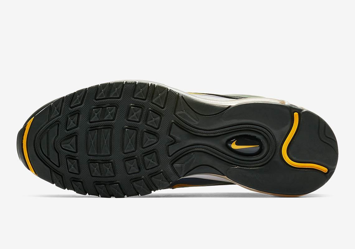 NEW HTF Nike Air Max 97 Cool Grey White Black Patent 921826