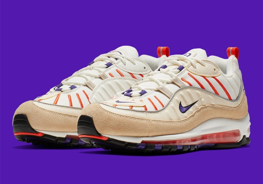 The Nike Air Max 98 Arrives In Sail And Court Purple