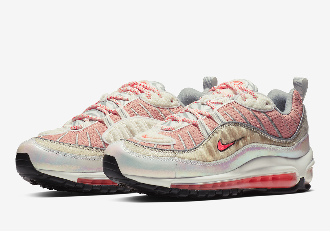 "4b24467949aa Nike Air Max 98 ""What The Chinese New Year"" Color  Bleached Coral Bright  Crimson-Sail"