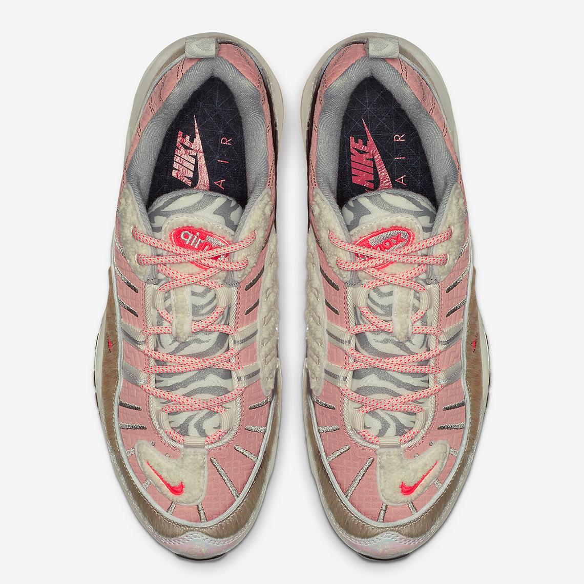 "b400e49b7392 Nike Air Max 98 ""What The Chinese New Year"" Color  Bleached Coral Bright  Crimson-Sail"