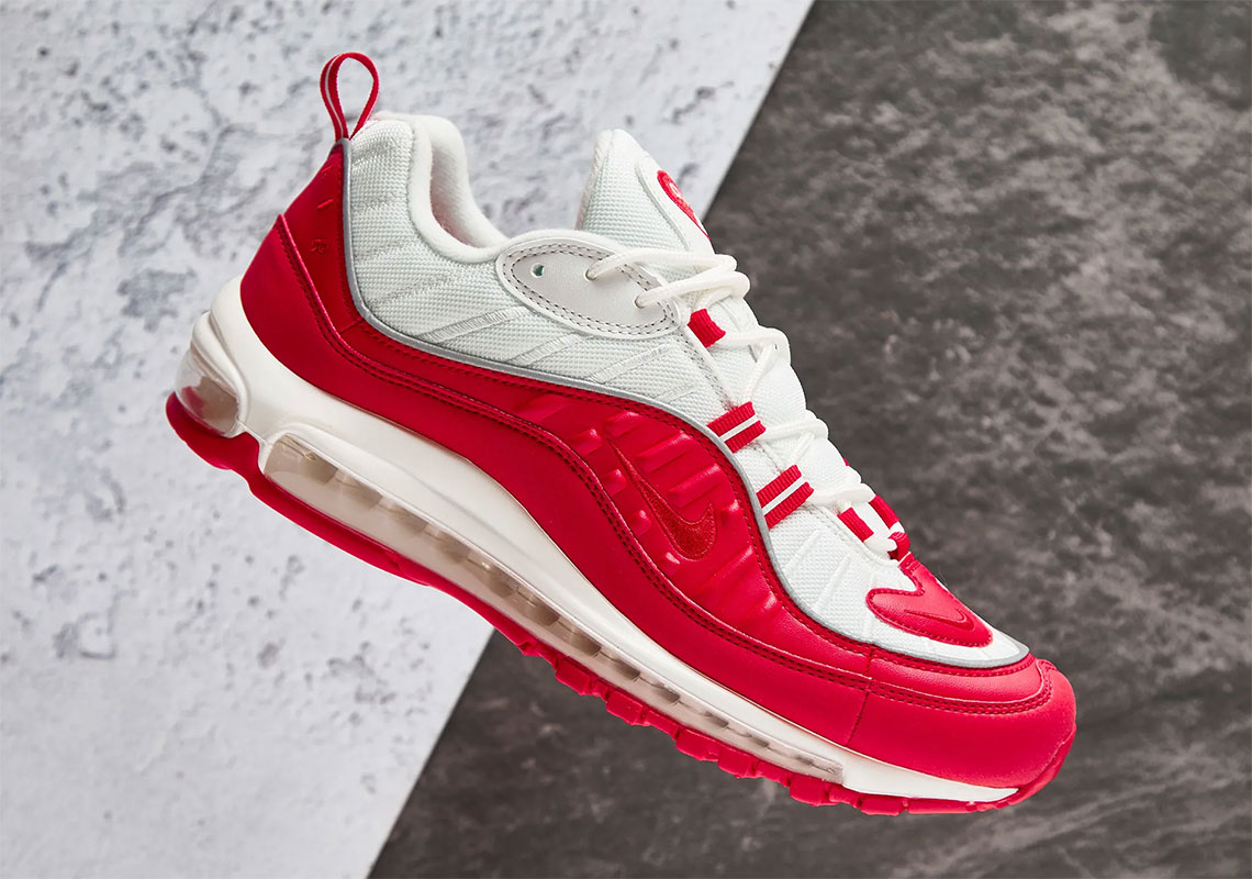 17dfe59702 Nike Air Max 98 University Red 640744-602 Store List | SneakerNews.com