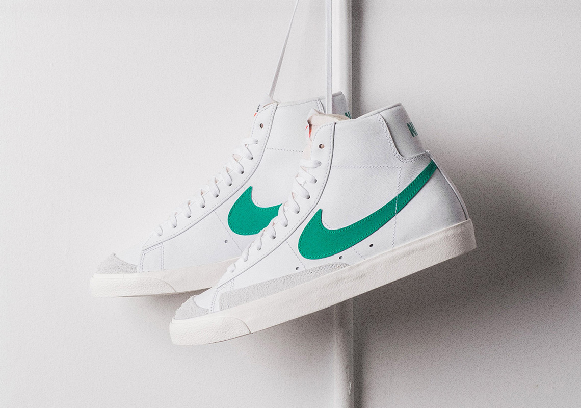 "98b227010da The Nike Blazer Mid Vintage  77 Is Dropping In ""Lucid Green"""