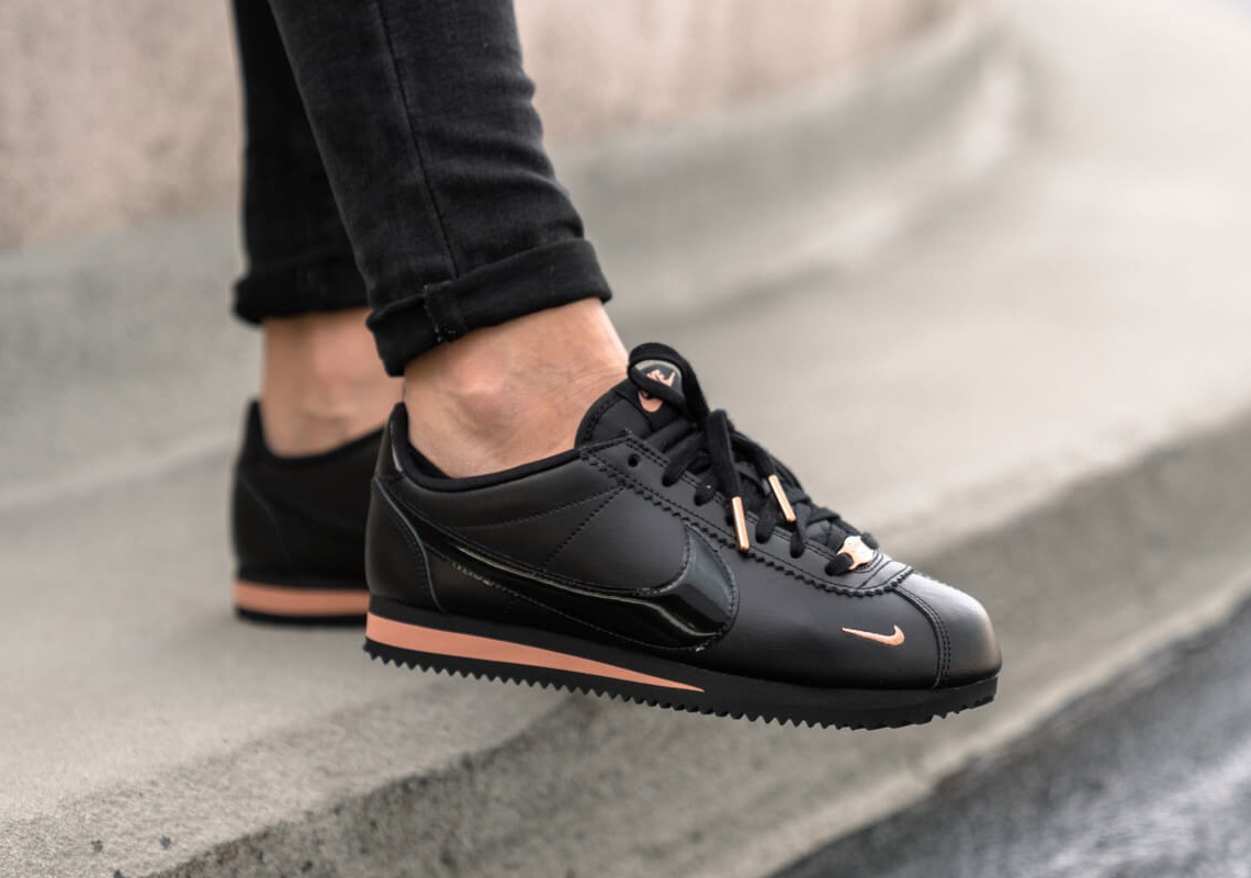 the latest f3d6f 17b89 Nike Cortez 905614-010 Black + Gold Release Info ...