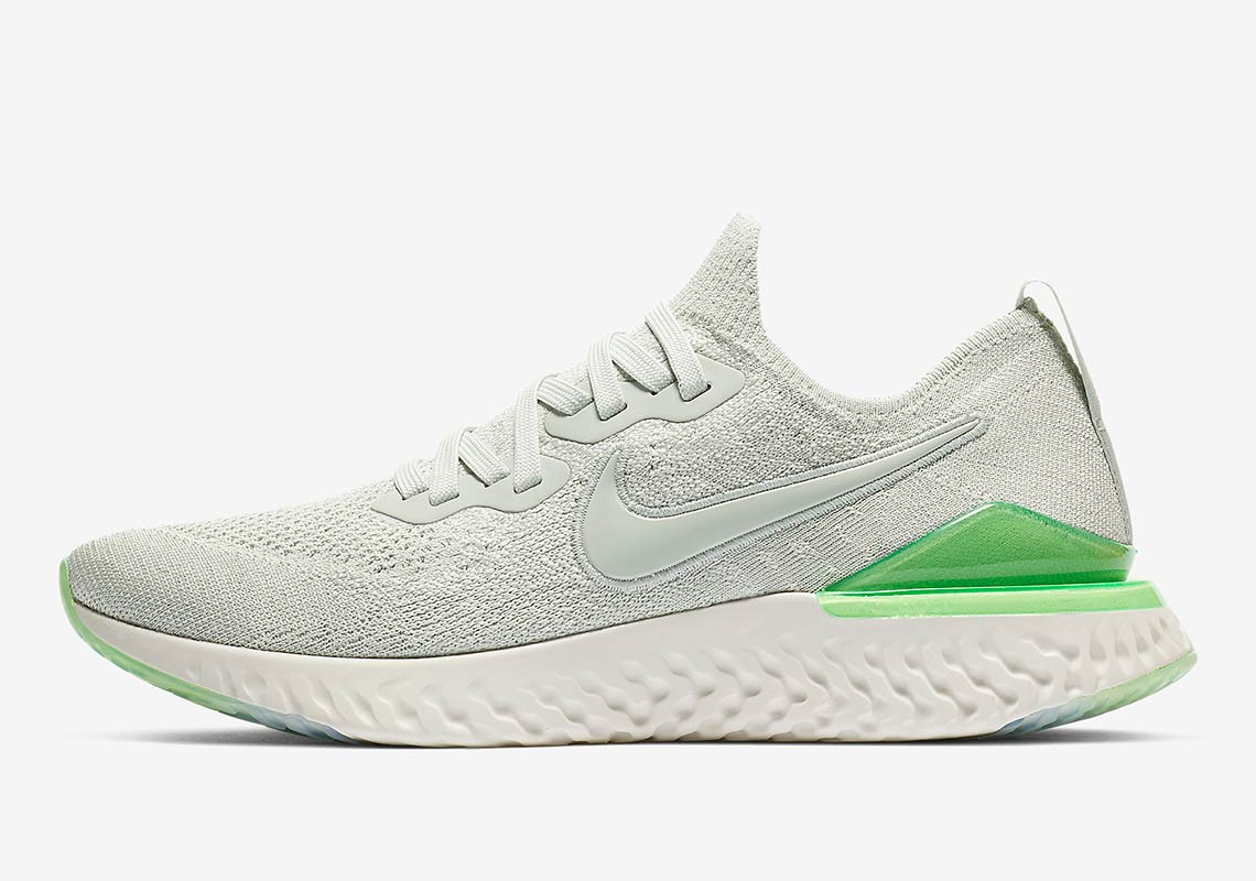 89172c781a40 Nike Epic React Flyknit 2 Wmns  150. Color  Light Silver Lime Blast Style  Code  BQ8927-005