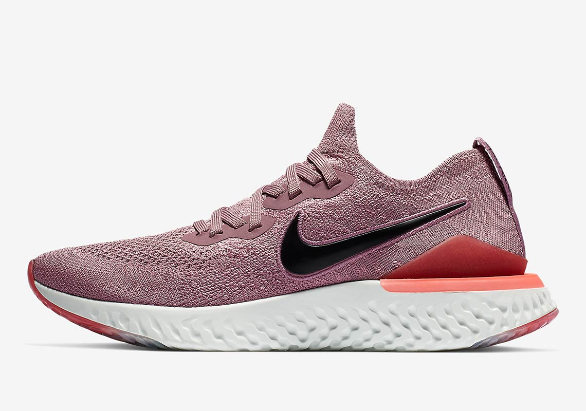 406f732aede Nike Epic React Flyknit 2 Wmns  150. Color  Plum Dust Plum Dust-Ember  Glow-Bleached Coral-Black-Barely Grey