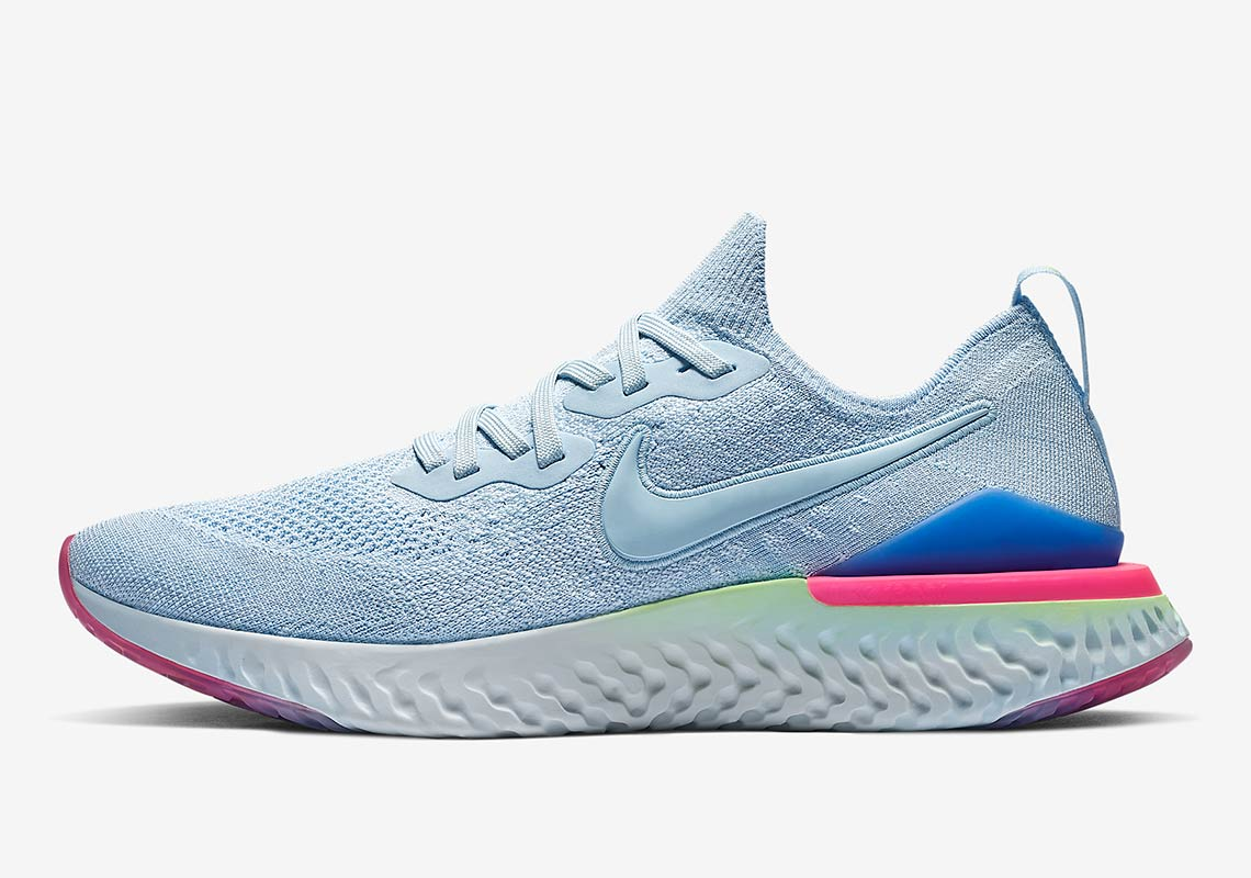 84dfad8c9d28 Nike Epic React Flyknit 2  150. Color  Black Black-Sapphire Lime  Blast-Hyper Pink-Blue Tint Style Code  BQ8928-003. Style Code  BQ8927-003  (Women s)