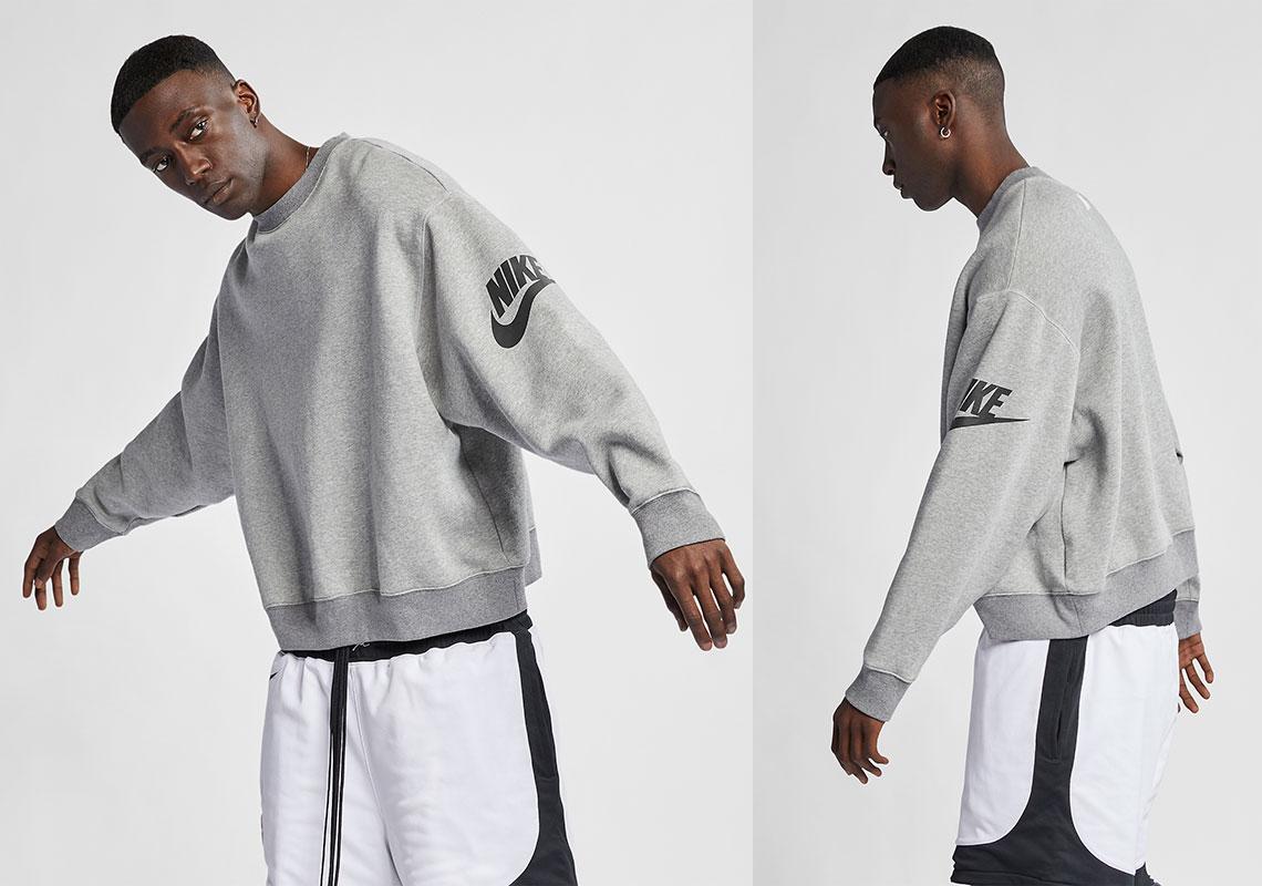 7fd7e5729 Nike x Fear Of God Crew Release Date: January 19, 2019 $200. Color: Dark  Grey Heather/Black