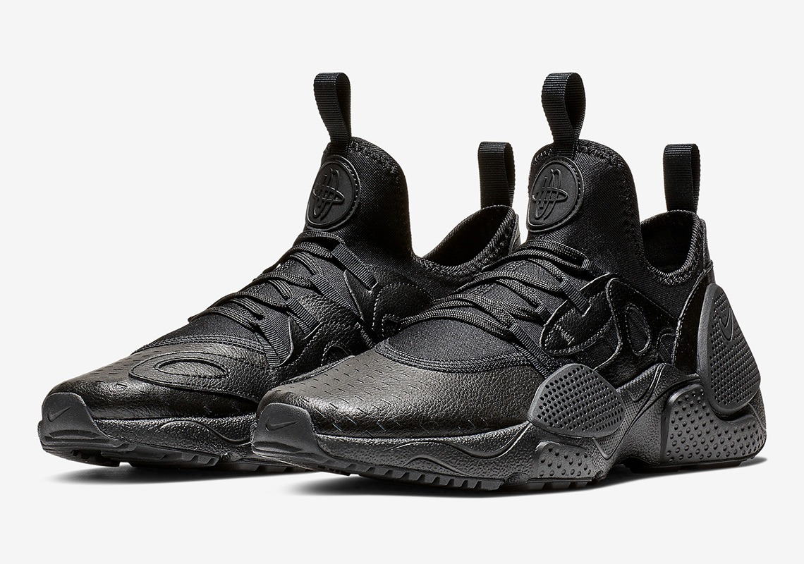 a2fb9347ecc The Nike Huarache EDGE Leather Appears In Triple Black