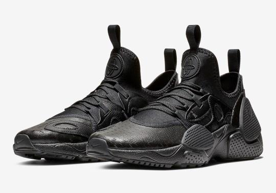 The Nike Huarache EDGE Leather Appears In Triple Black