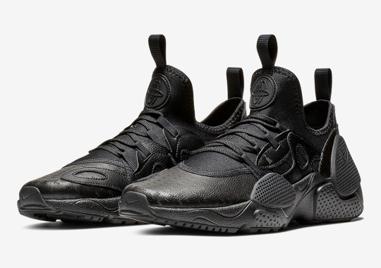 The Nike Huarache EDGE Leather Appears In Triple Black