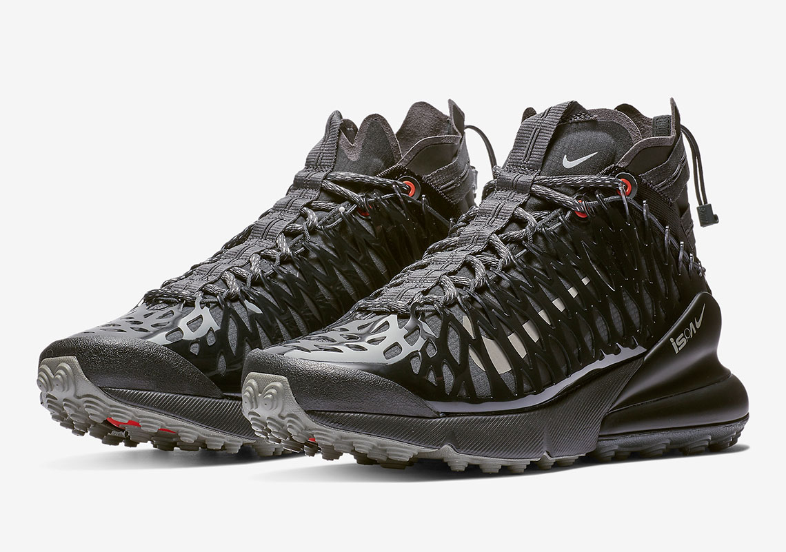 078b69d258 Nike ISPA Air Max 270 SP SOE Release Date: January 24th, 2019 $180. Color:  Black/Anthracite