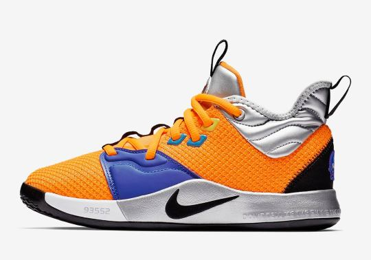 "The Nike PG 3 ""NASA"" Will Also Release In Grade School Sizes"