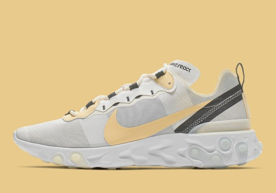 The Nike React Element 55 Adds A Soft Yellow Swoosh
