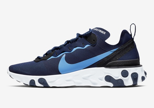 This Nike React Element 55 Should Please The UNC Tar Heel Fans