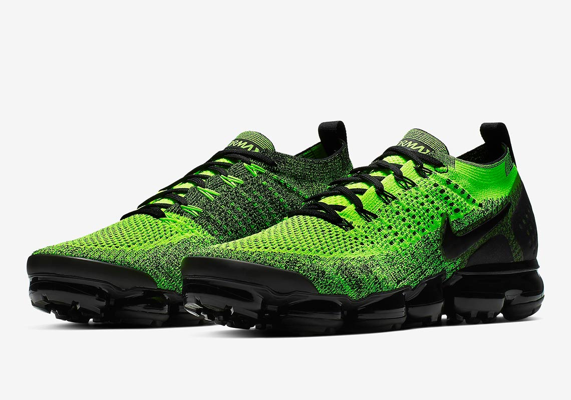 689693632d Nike Vapormax Flyknit 2 Gets Dressed in Neon Green And Black