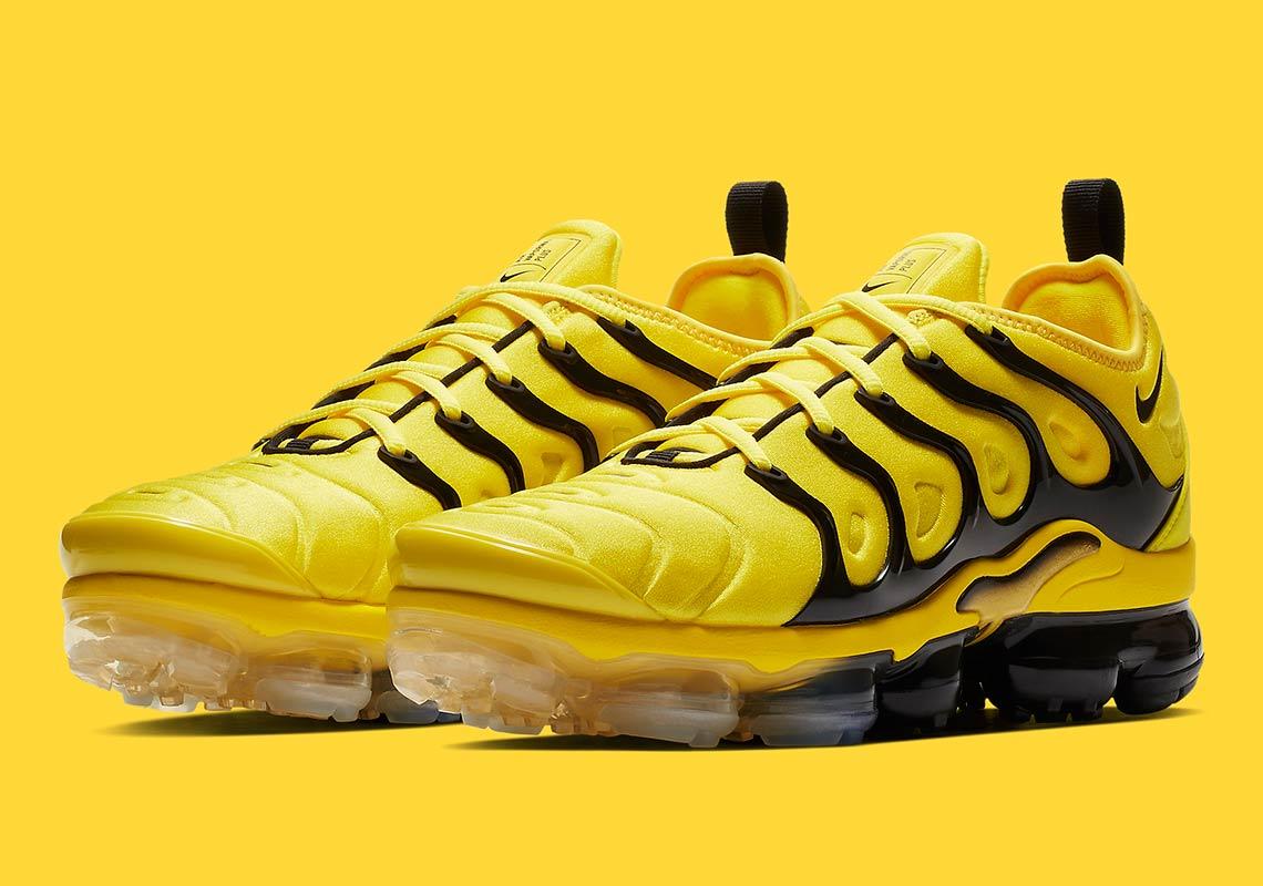 big sale 6355e 48e86 Nike Vapormax Plus Yellow Black BV6079-700 Info ...