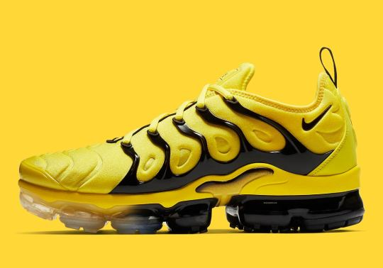 The Nike Vapormax Plus Arrives In A Speedy Yellow And Black