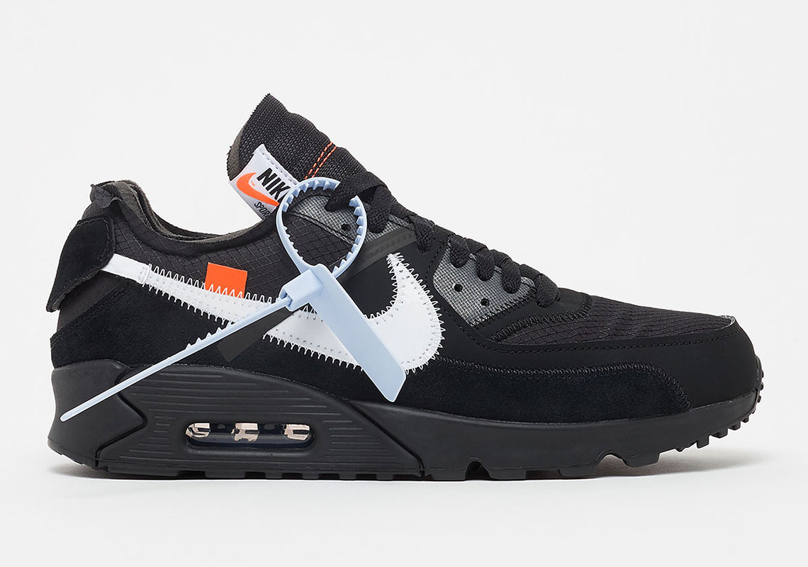 separation shoes 1a2b9 40606 Where To Buy The Off-White x Nike Air Max 90 In Black