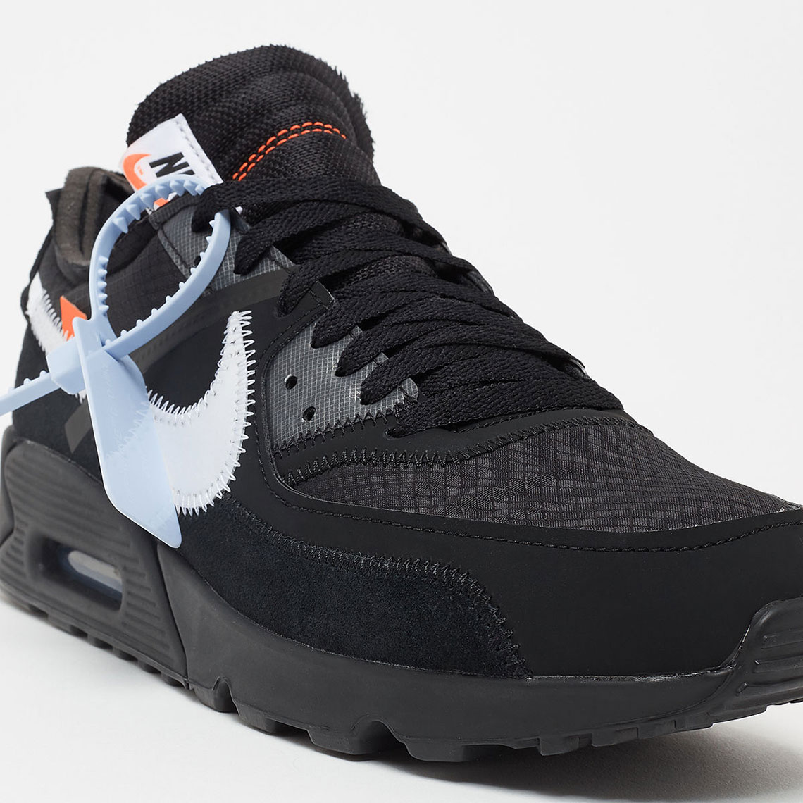 f886b2cd8e Off White Nike Air Max 90 Black White Store List | SneakerNews.com