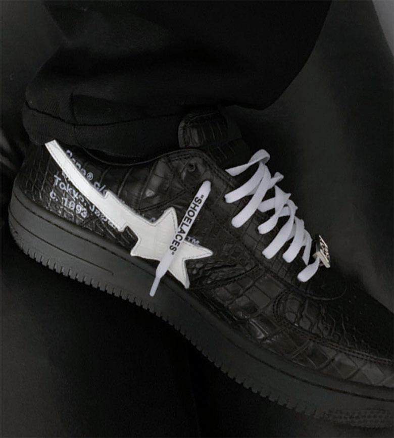 Off-White Bape Bapesta Shoes Virgil