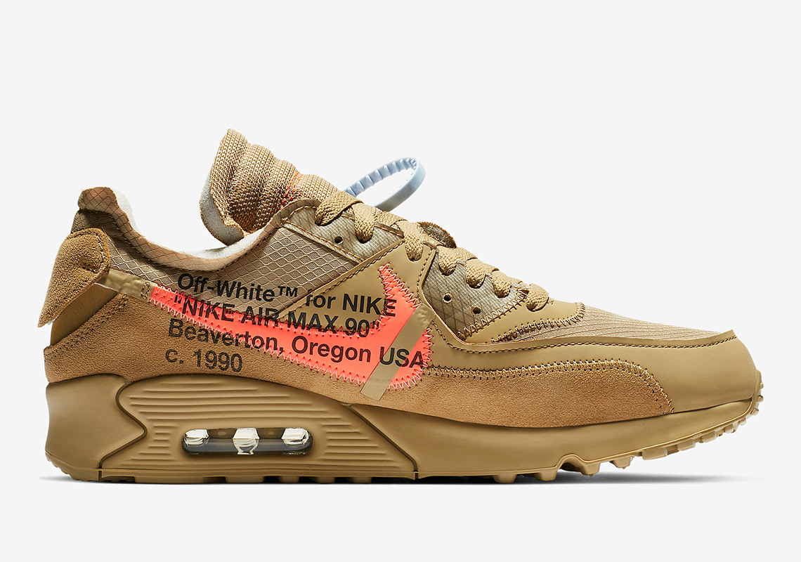 Off White Nike Air Max 90 Desert Ore AA7293 200
