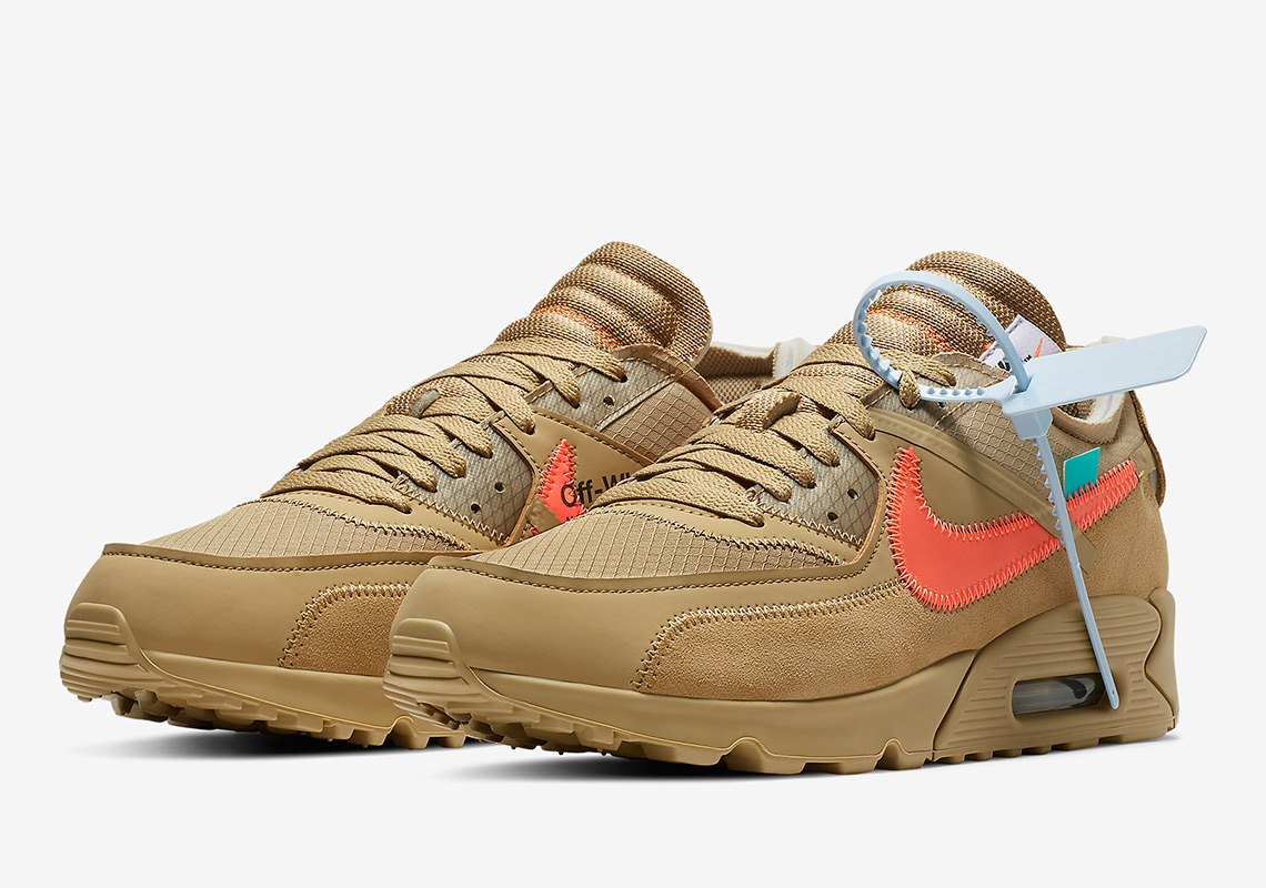 de232356b10 Off-White Nike Air Max 90 Desert Ore AA7293-200 | SneakerNews.com