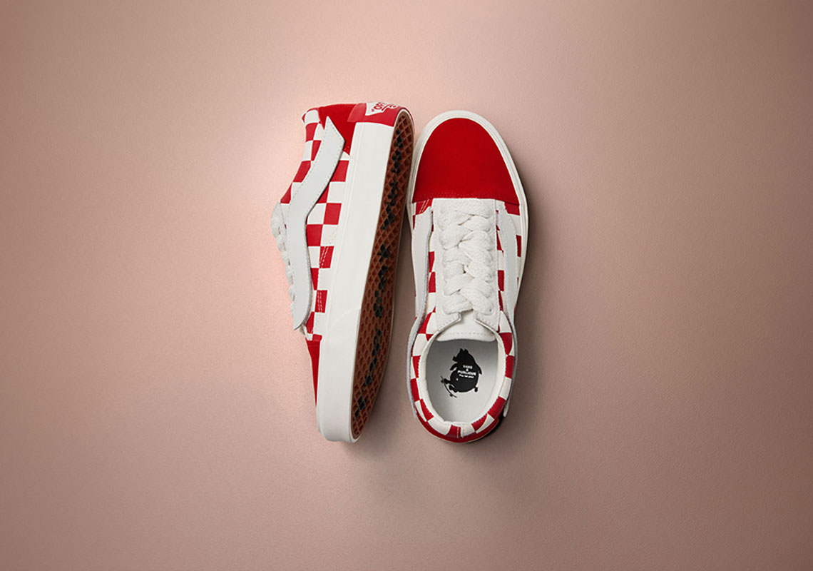 """469e99ccf827 Purlicue x Vans Vault Old Skool """"Year Of The Pig"""" €84.90. Color  Racing  Red Marshmallow"""