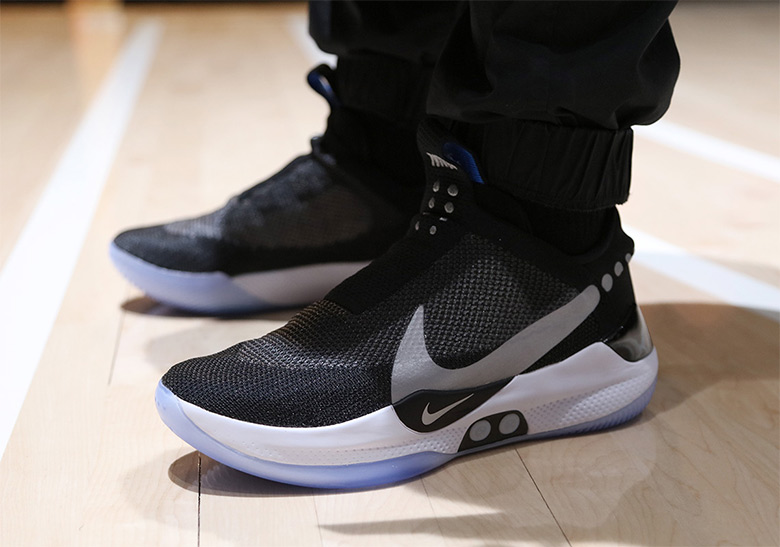 ba7149017be7 Nike Unveils The Self-Lacing Adapt BB Basketball Shoe Nike introduces the  future of its basketball division with this new power-lacing marvel.