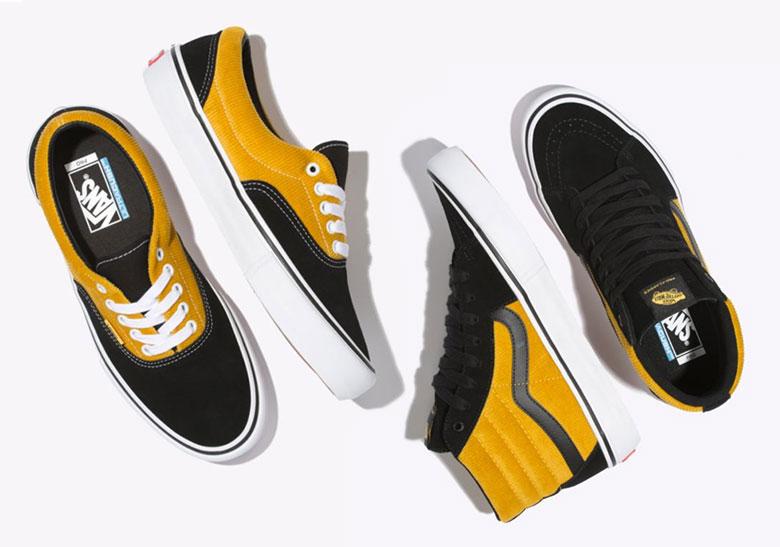 f48a383c61d4b9 Vans Corduroy Sk8 Hi Era Pro Black Yolk Yellow Release Info ...