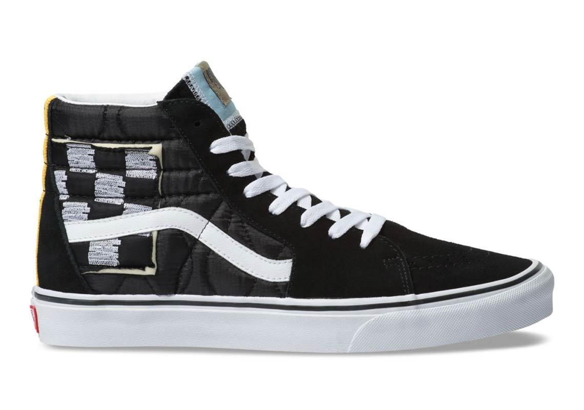 All Color Vans: Vans SK8-Hi Mixed Quilting Black White Store List
