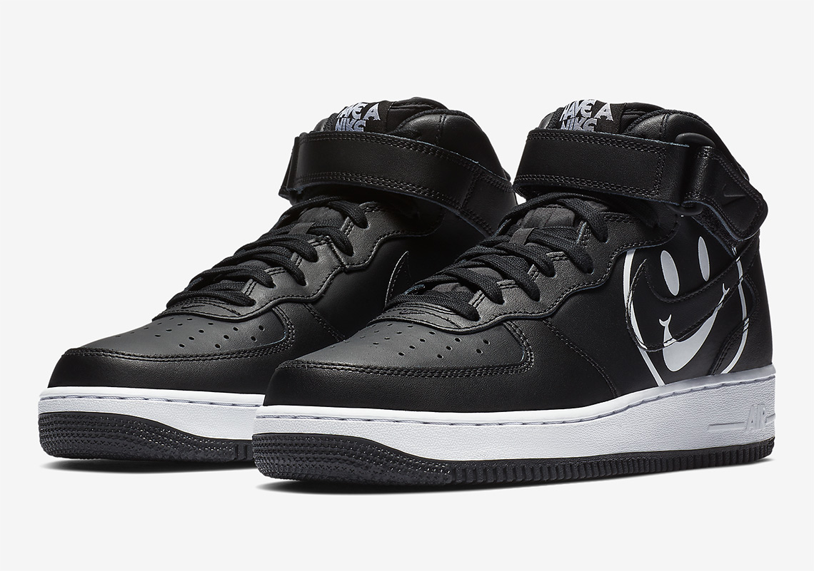 brand new 03cb0 a6c78 Nike Air Force 1 Mid Release Date  March 1st, 2019. Color  Black White