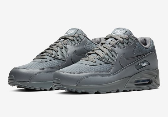 "Nike Air Max 90 Essential ""Triple Grey"" Is Hitting Stores Now"