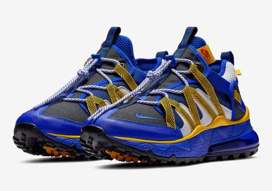 The Nike Air Max 270 Bowfin Releases In Warriors Blue And Yellow Themes