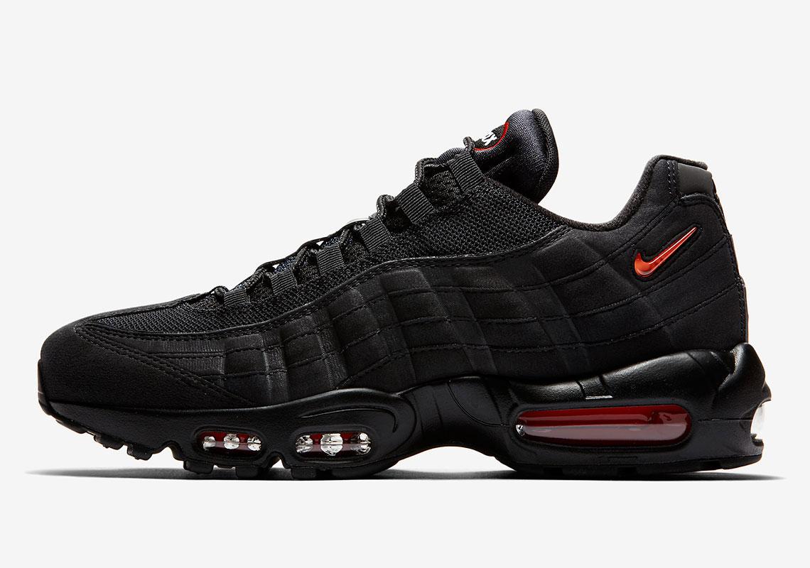 meet f51e1 10f88 Nike Air Max 95 SC Black Red CJ0423-001 Release Info ...