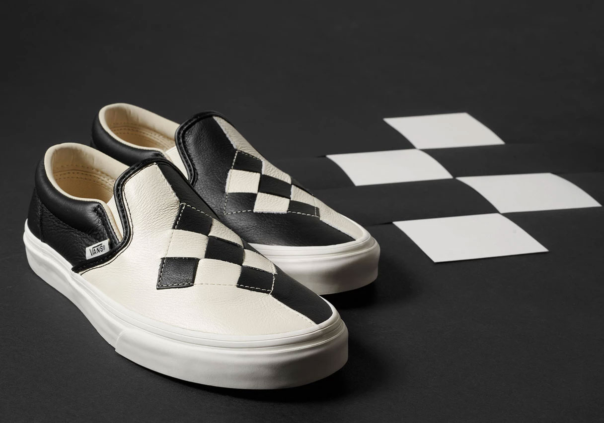 bfbc3ef757 Vans Checkerboard Woven Leather Slip On Release Info | SneakerNews.com