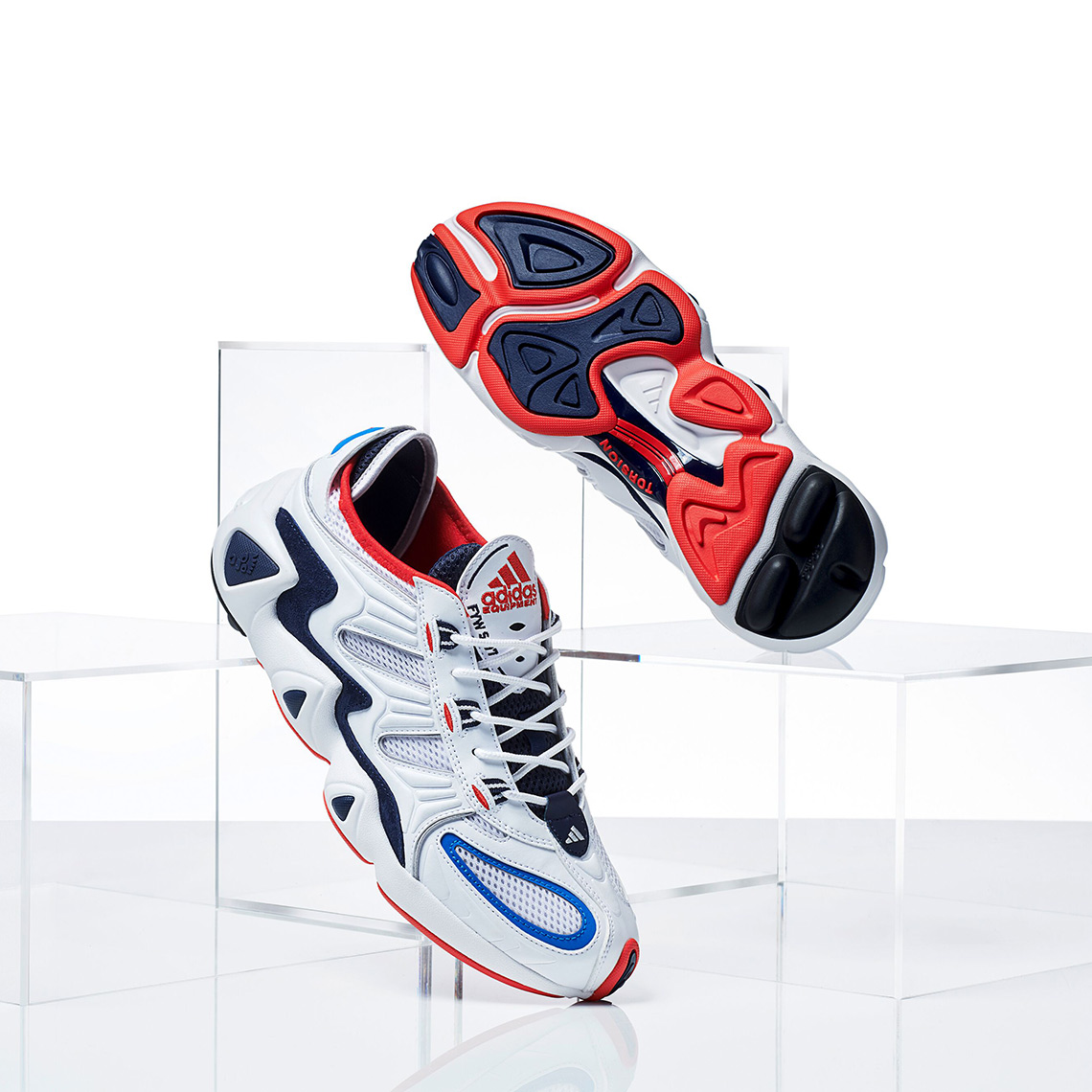 on sale 1f7e1 aba4e adidas FWY S-97 White Red Blue G27704 Release Date Info ...