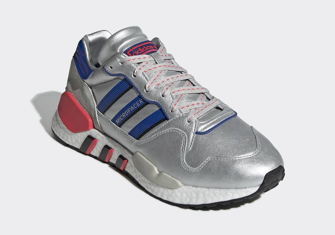 0566b6a9a85 adidas ZX930 EQT Micropacer Silver EF5558 Release Info