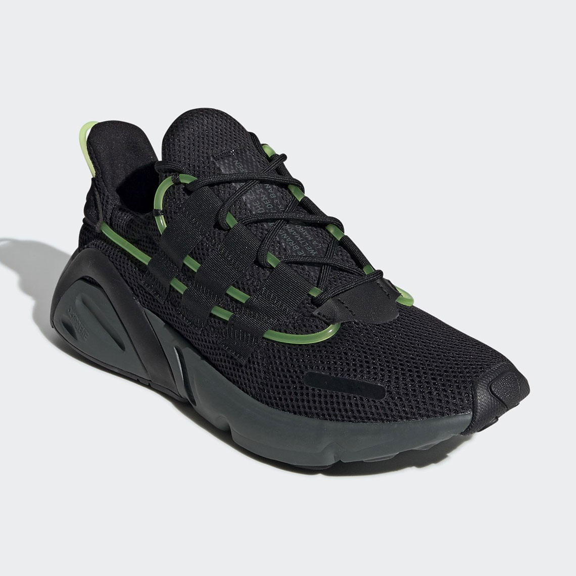 947367ffe16b adidas LXCON Black Green EF9678 Release Info