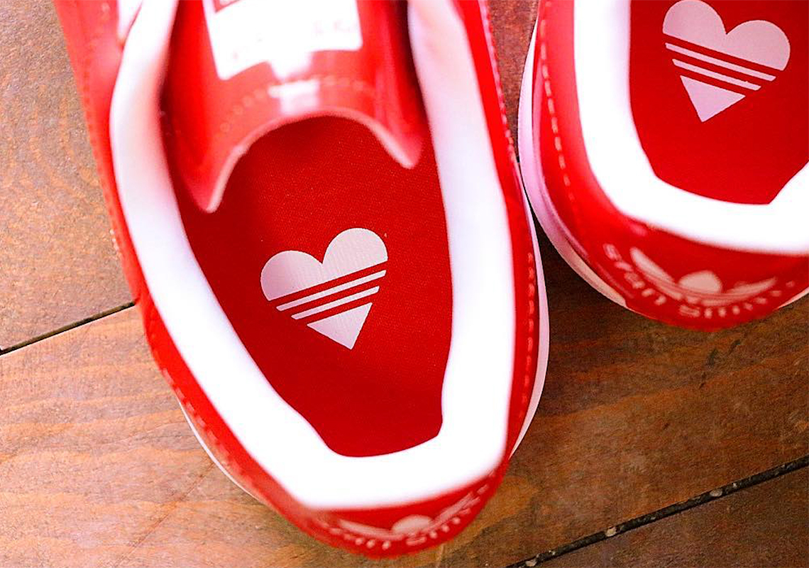 best sneakers 7a655 45f38 This Patent Leather adidas Stan Smith Is Perfect For Valentines Day