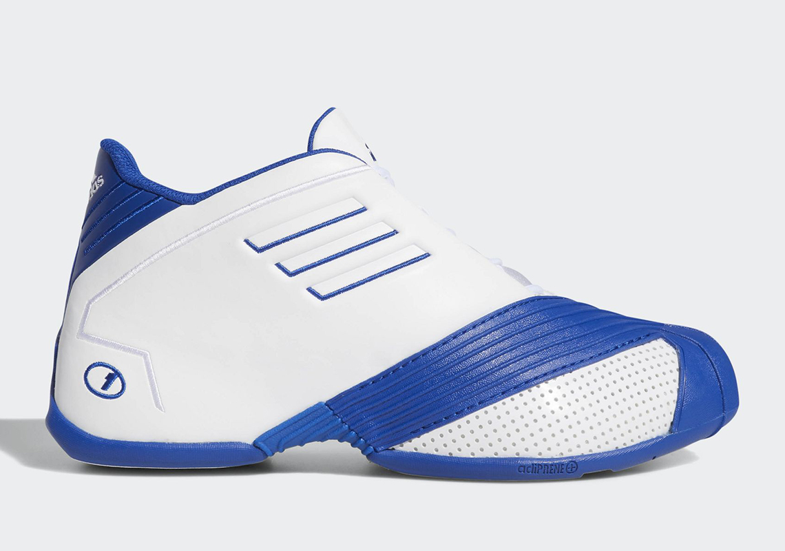 new product c1765 8b7c9 adidas T-MAC 1 White Blue EE6844 Release Date   SneakerNews.com