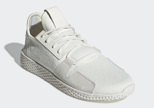The Pharrell x adidas Tennis Hu V2 Is Back In Monochromatic White And Black