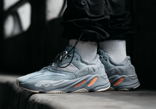 "Detailed On-Foot Look At The adidas Yeezy Boost 700 ""Inertia"""