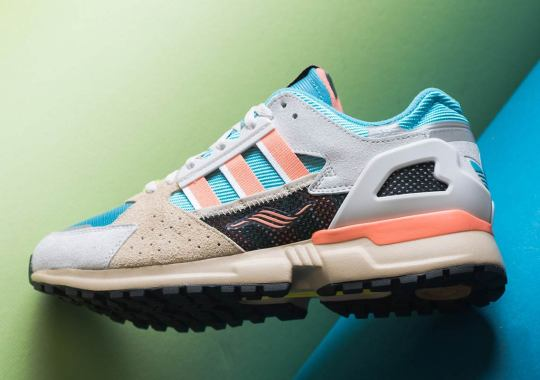 The adidas ZX 10.000C Appears With Light Blue & Coral Orange Accents