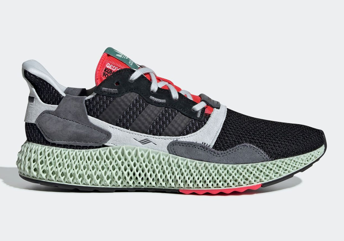 """abccc27fe264a adidas Continues The ZX4000 4D Series With """"Black Onix"""""""