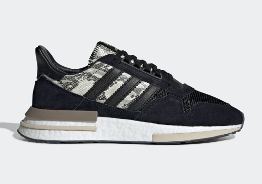 The adidas ZX 500 RM Blends Black Suede And Snakeskin