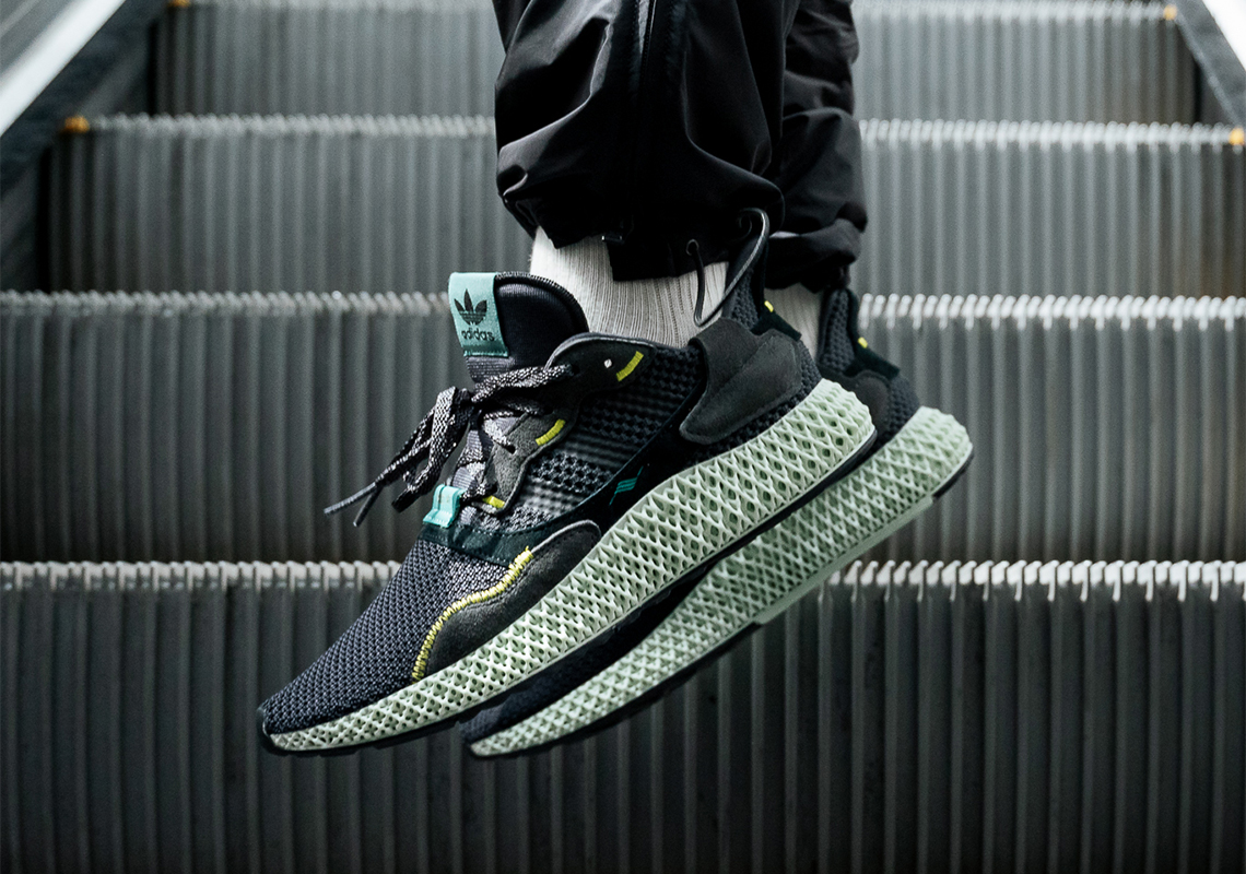 "9fca98400 The adidas ZX4000 4D ""Carbon"" Is Releasing In April"