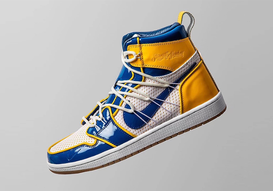 7a33e546352a While you wait for updates on this Warriors-themed Nike sneaker