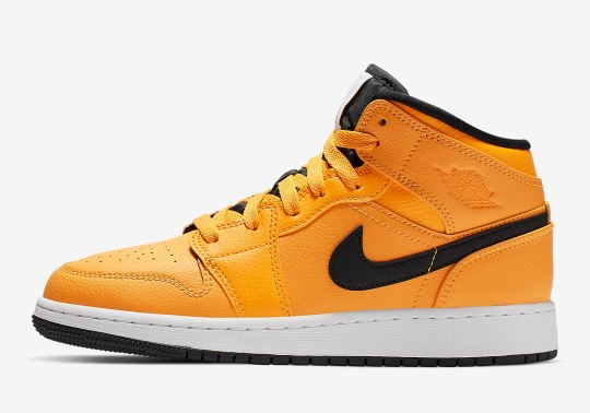 The Air Jordan 1 Mid Gets A Full Bright Taxi Yellow