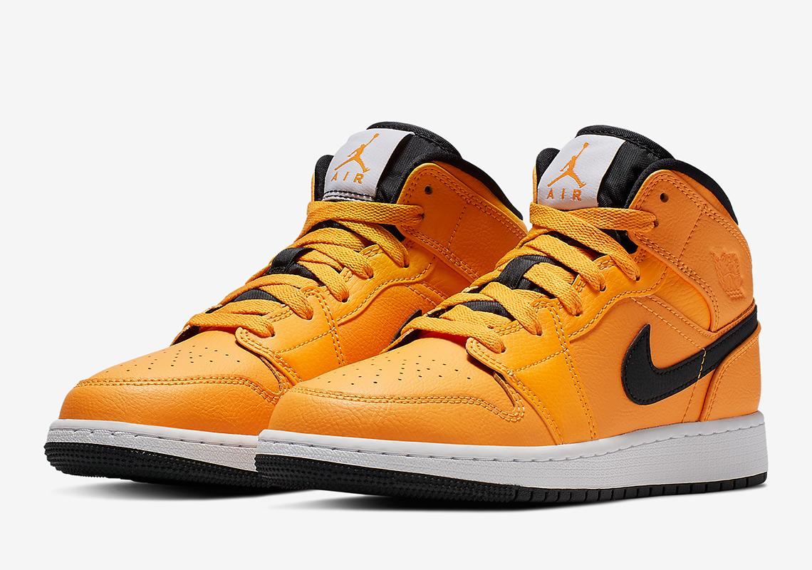 buy online bd197 4b150 The Air Jordan 1 Mid Gets A Full Bright Taxi Yellow - SneakerNews.com